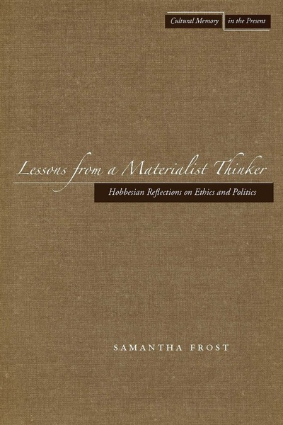 Cover of Lessons from a Materialist Thinker by Samantha Frost
