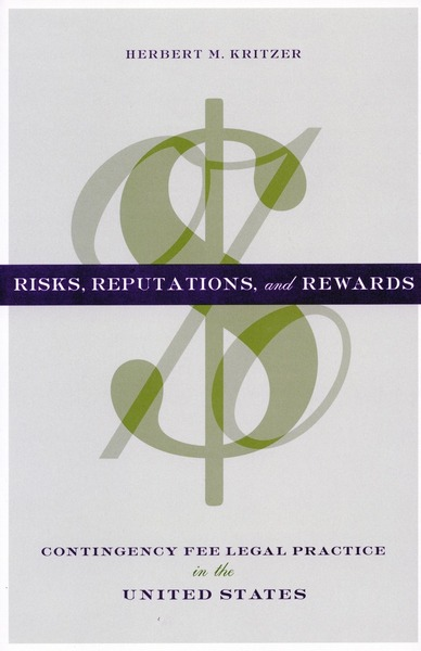 Cover of Risks, Reputations, and Rewards by Herbert M. Kritzer