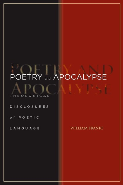 Cover of Poetry and Apocalypse by William Franke